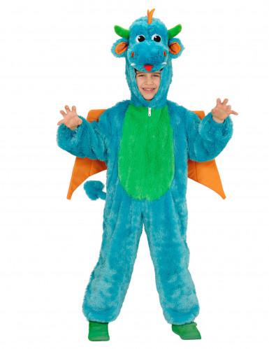 Blauer Drachen Kostüm für Kinder