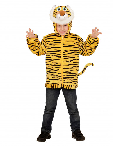 Kapuzenjacke im Tiger-Look für Kinder