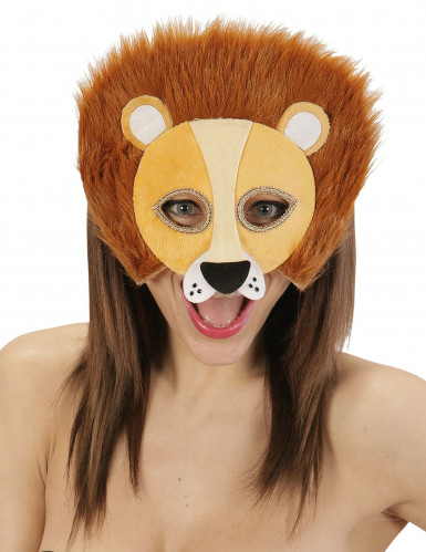 Löwen Halbmaske mit Fellmähne für Erwachsene