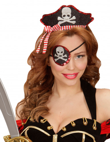 Haarreif und Augenklappe für Piratinnen
