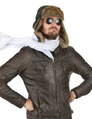Pilotenmütze mit Pelz für Erwachsene-1