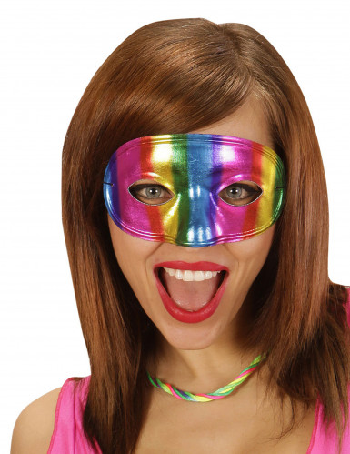 Glänzende bunte Augenmaske für Erwachsene