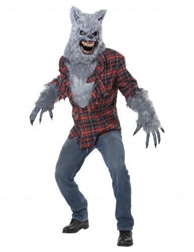 Werwolf Kostüm mit Ani-Motion Maske für Erwachsene