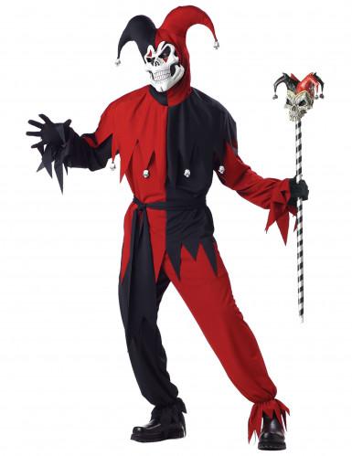 Kostüm verrückter Joker für Männer