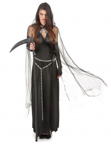 Verkleidung als Frau der Finsternis zu Halloween-1