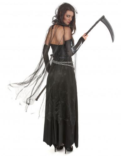 Verkleidung als Frau der Finsternis zu Halloween-2