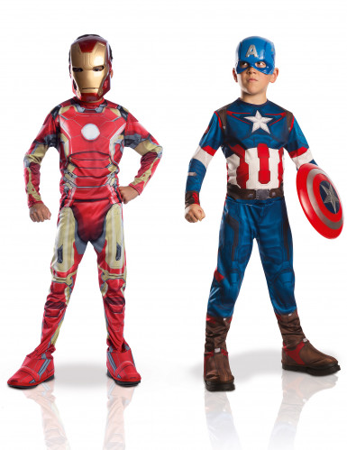 2er Pack Kinderverkleidung Iron Man + Captain America