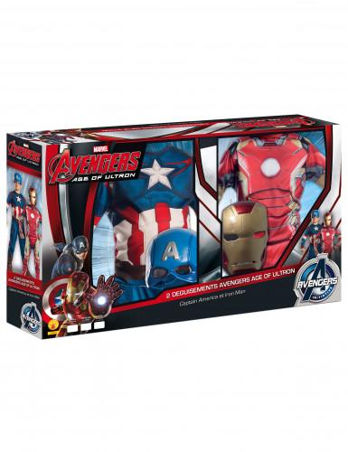 2er Pack Kinderverkleidung Iron Man + Captain America-2