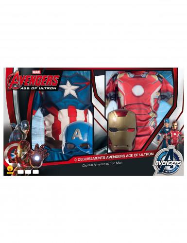 2er Pack Kinderverkleidung Iron Man + Captain America-1