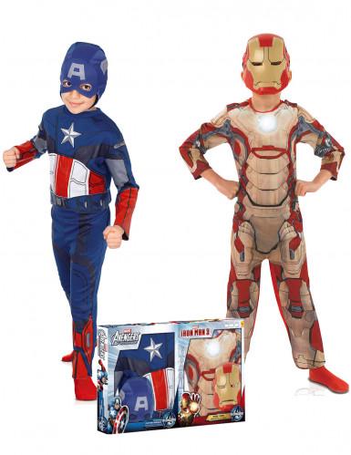 Captain America™ und Iron Man™ Kostüme-Set für Kinder