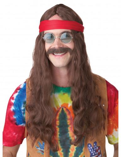 Hippie-Perücke mit Bart