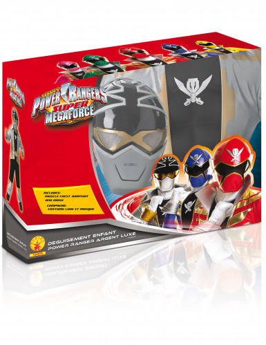 Power Rangers™ Silver Super Mega Force für Kinder - 3D EVA-1