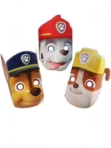 8 Paw Patrol Masken-Set aus Pappkarton