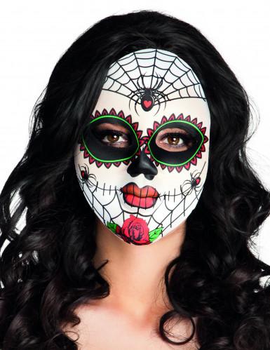 Bunte Spinnen-Maske Dia de los Muertos