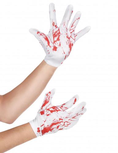 Blutverschmierte Handschuhe