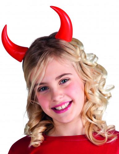 Halloween Hörner in rot für Kinder