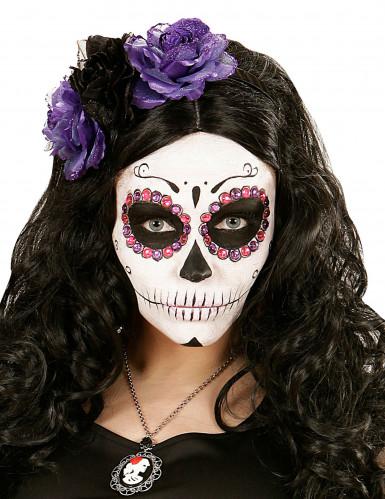 Strassteine - violett & rosa - Dia de los Muertos