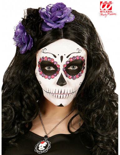 Strassteine - violett & rosa - Dia de los Muertos-1