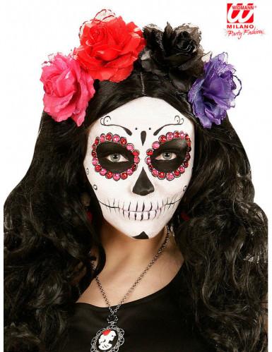 40 rosa und rote Strasssteinchen für Erwachsene Dia de los Muertos-1
