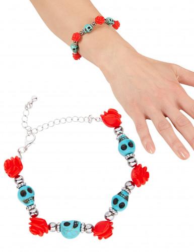 Gruseliges Armband mit Totenköpfen für Damen