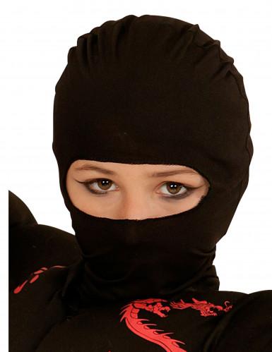 Schwarze Ninja Maske für Kinder