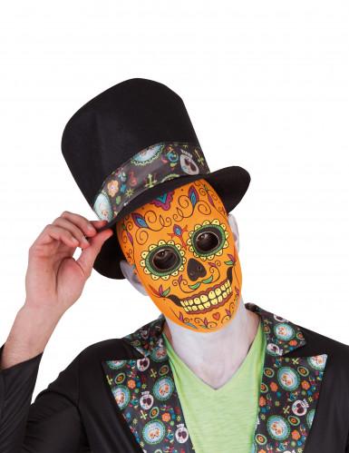 Tag der Toten Kürbis-Skelett Halloweenmaske