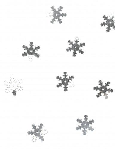 Silbernes Schneeflocken Konfetti