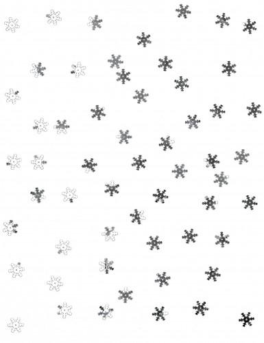 Silbernes Schneeflocken Konfetti-1