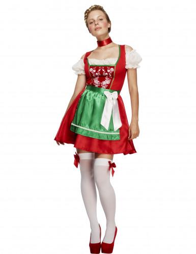 Bayerisches Kellnerin-Kostüm für Frauen in Rot