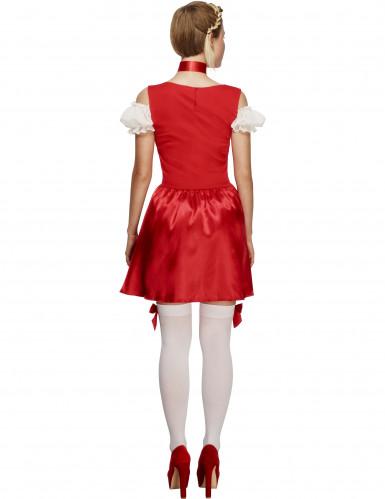 Bayerisches Kellnerin-Kostüm für Frauen in Rot-2