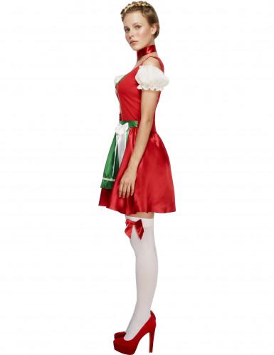 Bayerisches Kellnerin-Kostüm für Frauen in Rot-1
