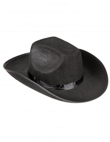 Prärie Cowboy-Hut für Erwachsene schwarz