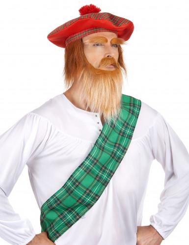 Schotten-Mütze mit Bommel für Erwachsene-1