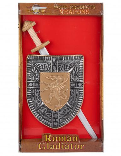 Ritter Set mit Schwert und Schild für Kinder-1