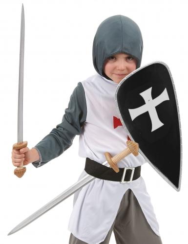 Kreuzritter-Set mit 2 Schwertern & Schild für Kinder-1