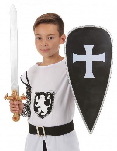 Kreuzritter-Set mit Schwert und Schutzschild für Kinder-1