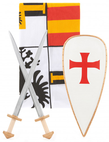 Ritter-Kostüm mit Accessoires für Kinder bunt-1