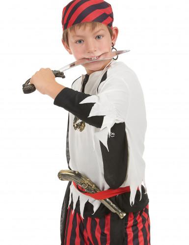 Piratenset für Kinder - Schwert Pistole Anhänger und Ohrring-1