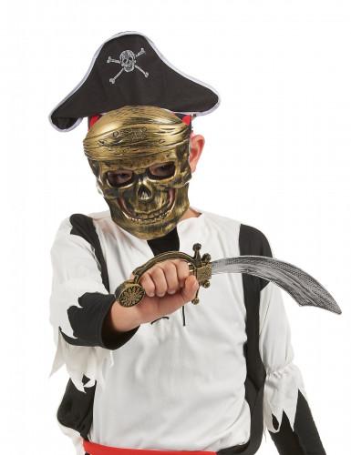 Piratenset für Kinder - Schwert Hut und Halbmaske-1
