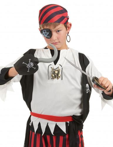 Piratenset für Kinder - Schwert, Haken, Anhänger, Augenklappe und Ohrring-1