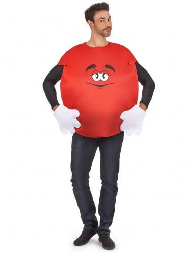 Rotes Bonbon-Kostüm für Erwachsene
