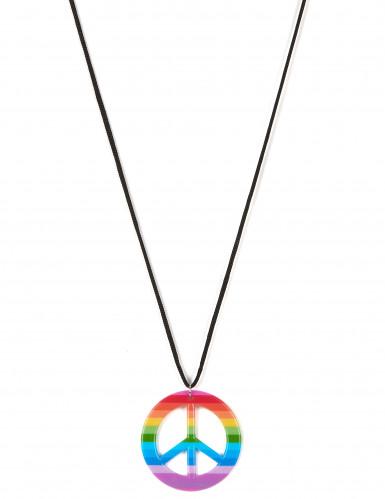 Bunte Hippie-Halskette für Erwachsene