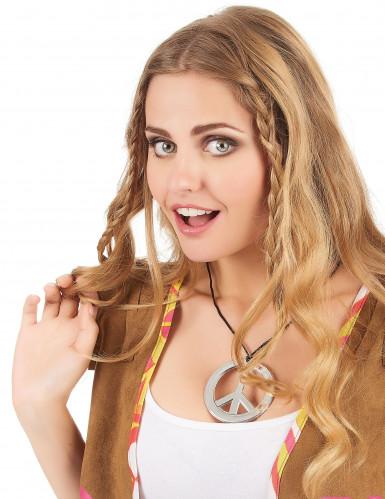 Hippie Halskette aus Kunststoff für Erwachsene-1