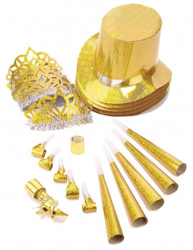 Goldenes Spaßartikel Parts-Set Einheitsgröße
