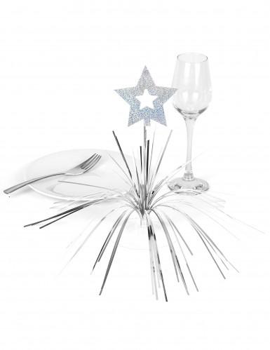 Tischaufsteller - Stern in Silbern-1