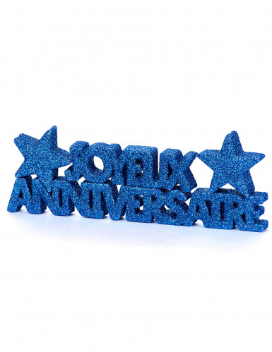 Tischdekoration Geburtstag, dunkelblau, glitzernd