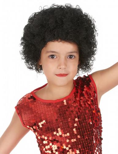 Perücke schwarze Locken für Kinder