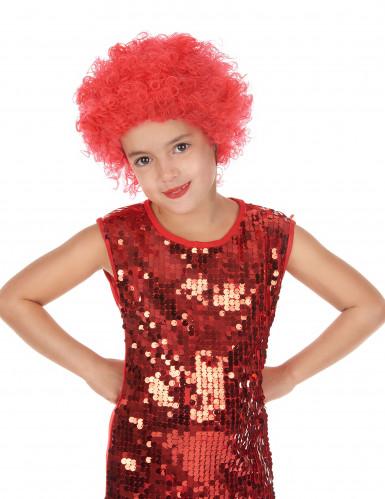 Rote Kinderperücke für Karneval und Disco