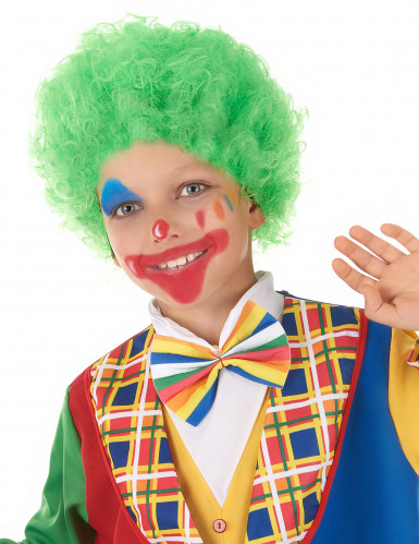 Grüne Perücke Clown für Kinder