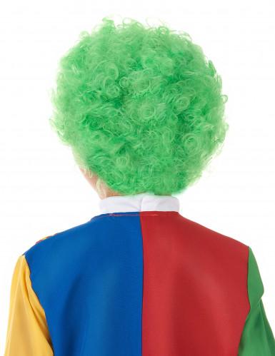 Grüne Perücke Clown für Kinder-1